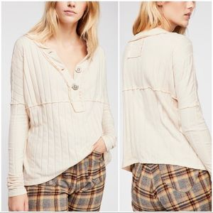 •WE THE FREE•Ivory In the Mix Long Sleeve Knit Top